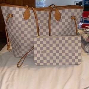 Louis Vuitton Damier Azur Canvas Never Full MM